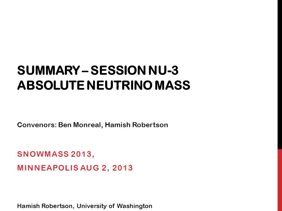 Particle Physics Cosmology What is the neutrino mass scale?