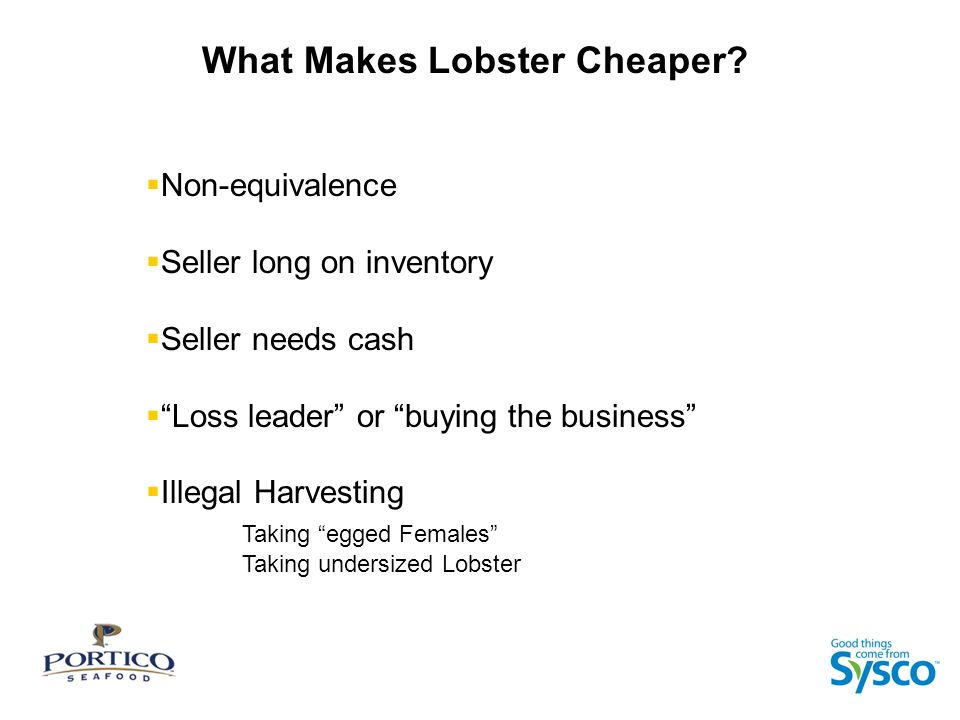 What Makes Lobster Cheaper.
