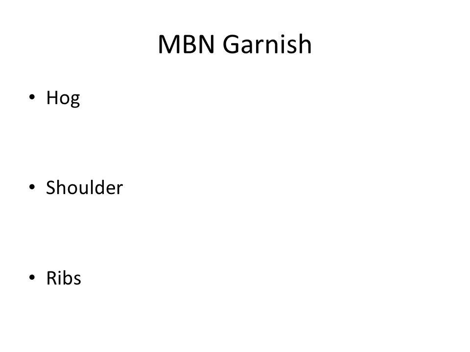 MBN Garnish Hog Shoulder Ribs