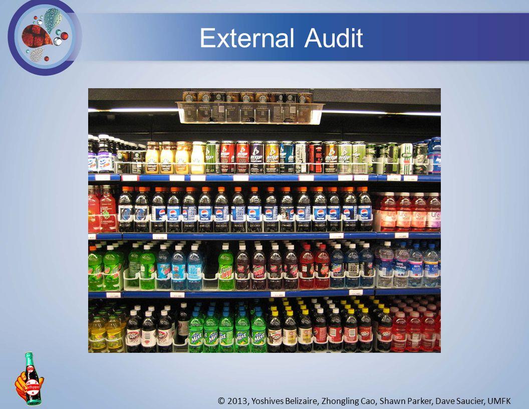 External Audit © 2013, Yoshives Belizaire, Zhongling Cao, Shawn Parker, Dave Saucier, UMFK