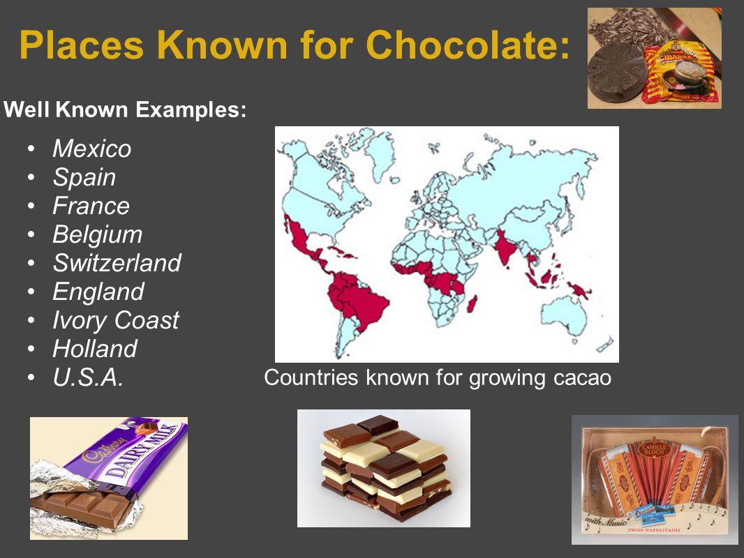 General Ingredients in Chocolate Cacao -Chocolate Liquor -Cocoa Butter -Cocoa or Cocoa powder Sugar Milk Emulsifier