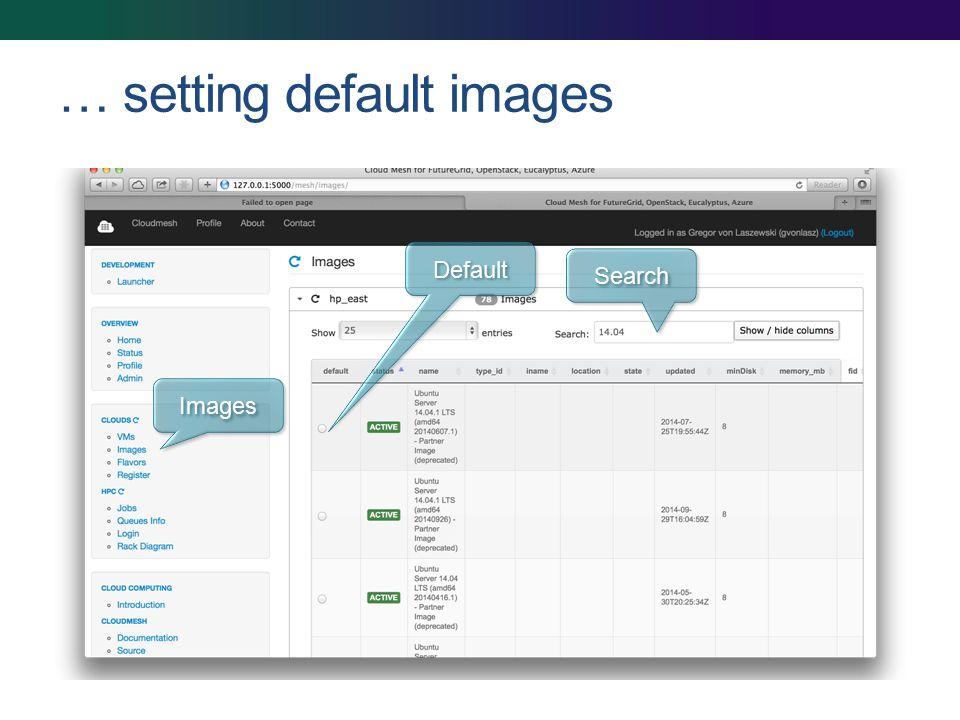 … setting default images Images Default Search