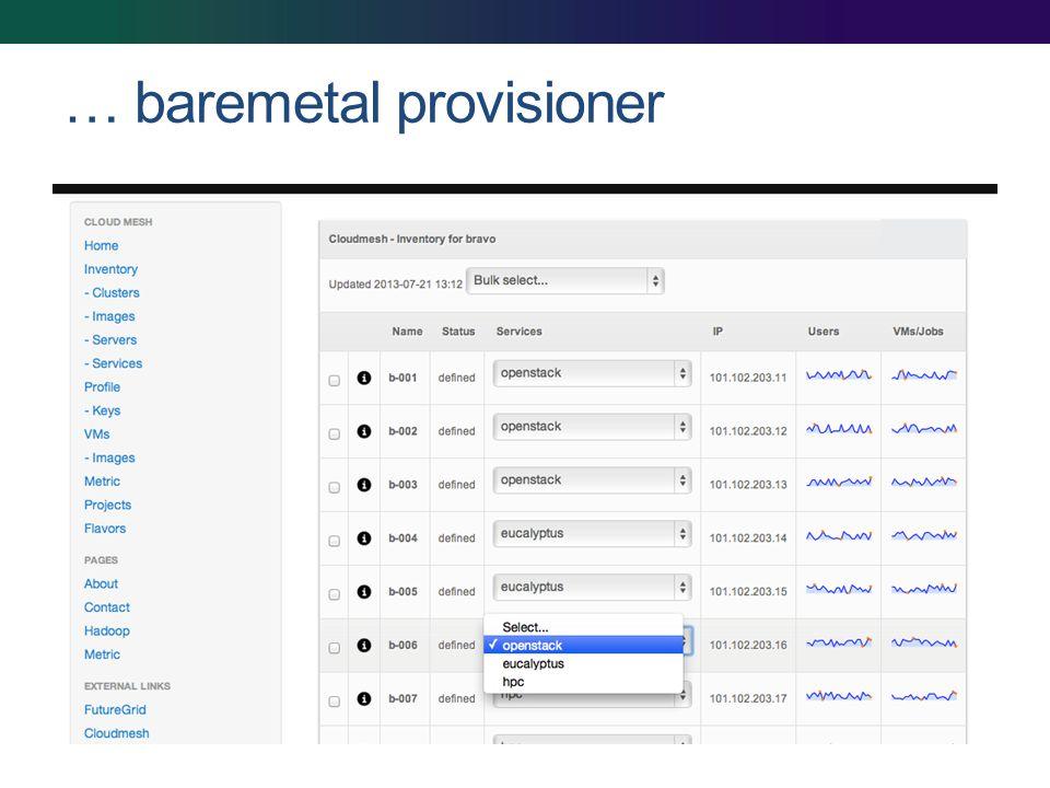 … baremetal provisioner