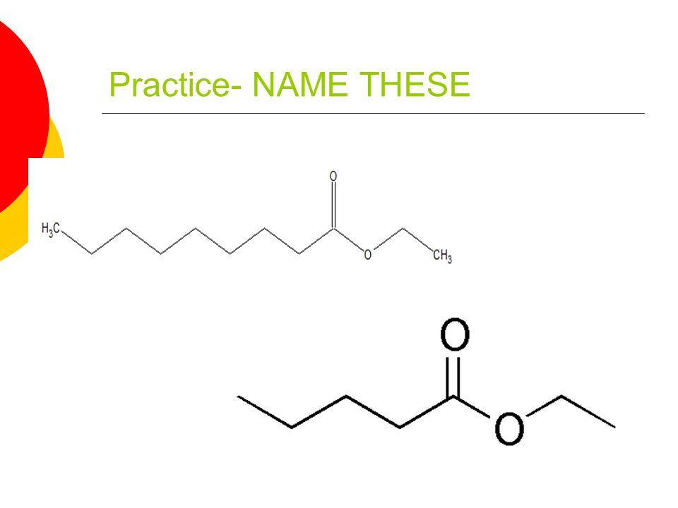 ANSWERS Ethyl nonanoate Grape Ethyl penanoate Apple