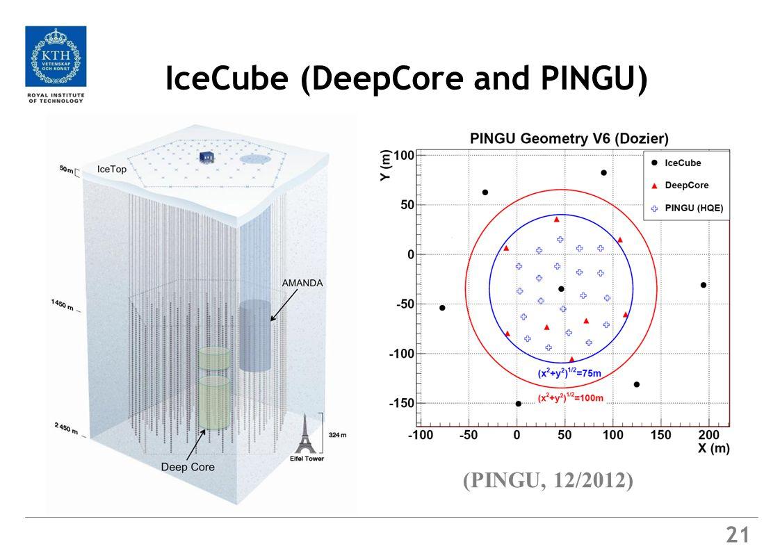 21 IceCube (DeepCore and PINGU) (PINGU, 12/2012)