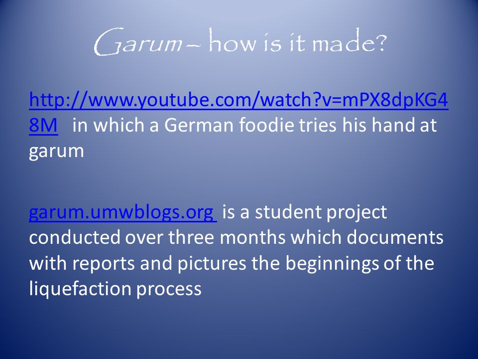Garum – how is it made.