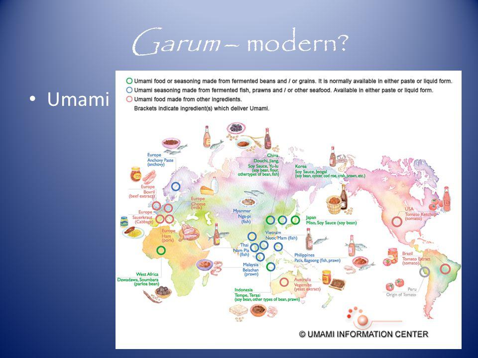 Garum – modern? Umami