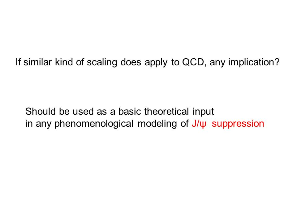 If similar kind of scaling does apply to QCD, any implication.