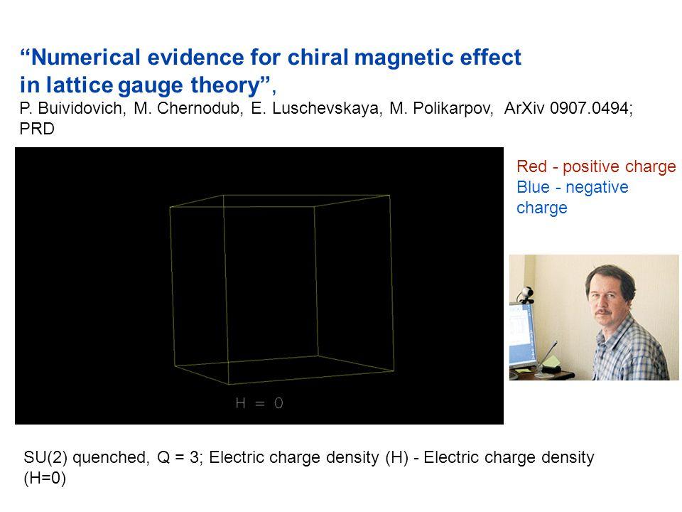 """Numerical evidence for chiral magnetic effect in lattice gauge theory"", P. Buividovich, M. Chernodub, E. Luschevskaya, M. Polikarpov, ArXiv 0907.0494"