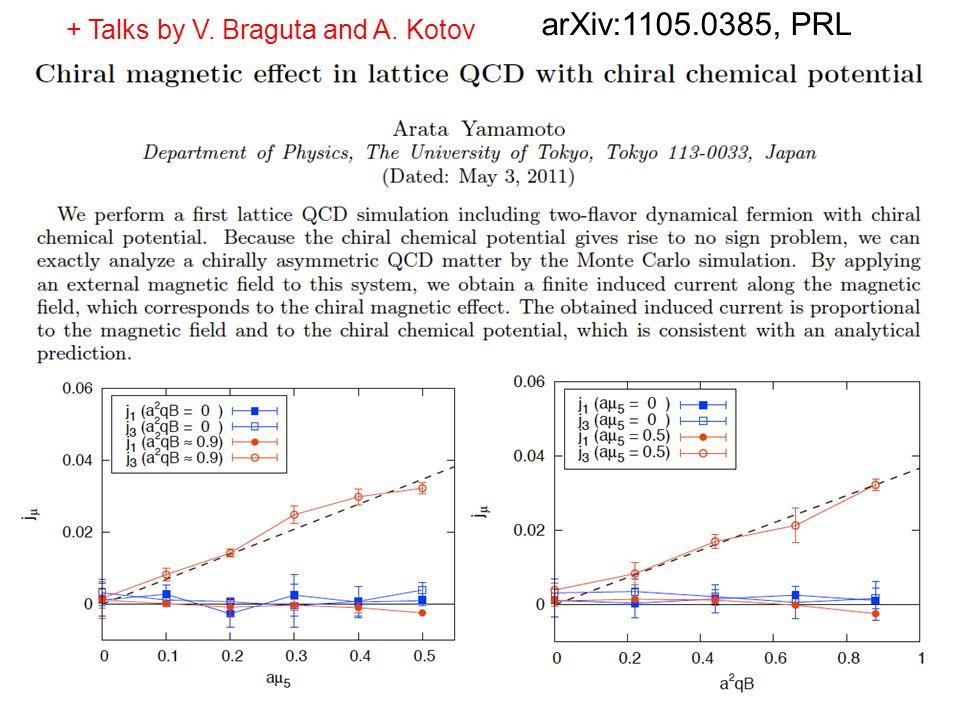 18 arXiv:1105.0385, PRL + Talks by V. Braguta and A. Kotov