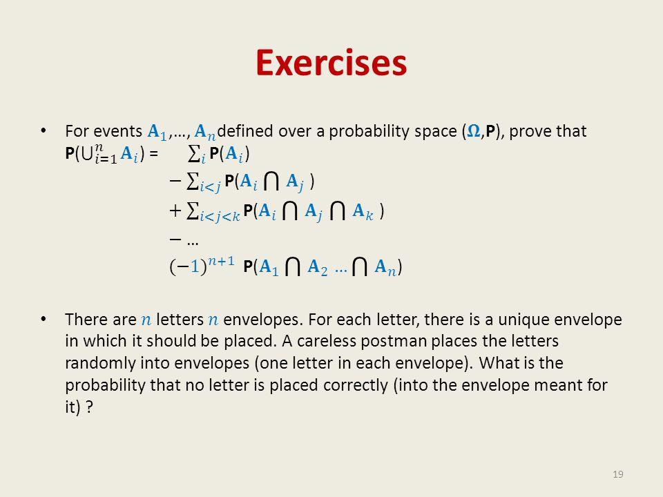 Exercises 19