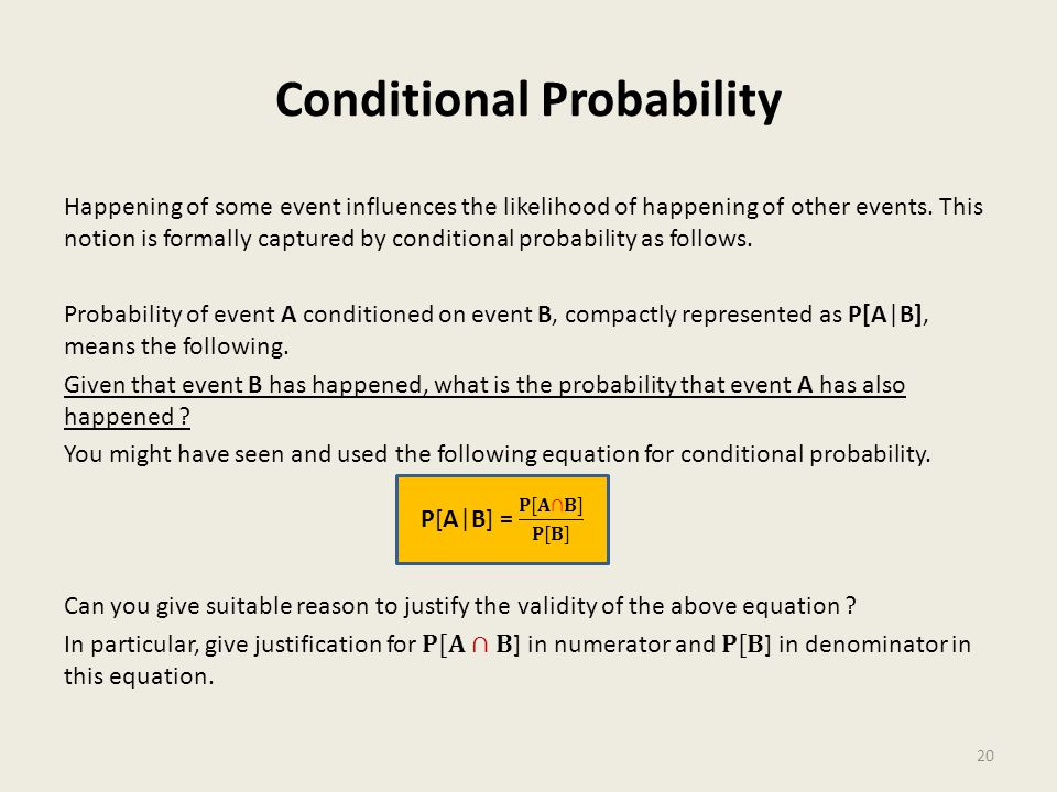 Conditional Probability 20