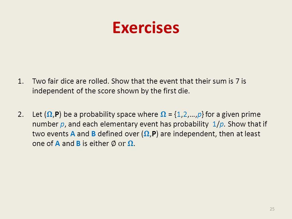 Exercises 25