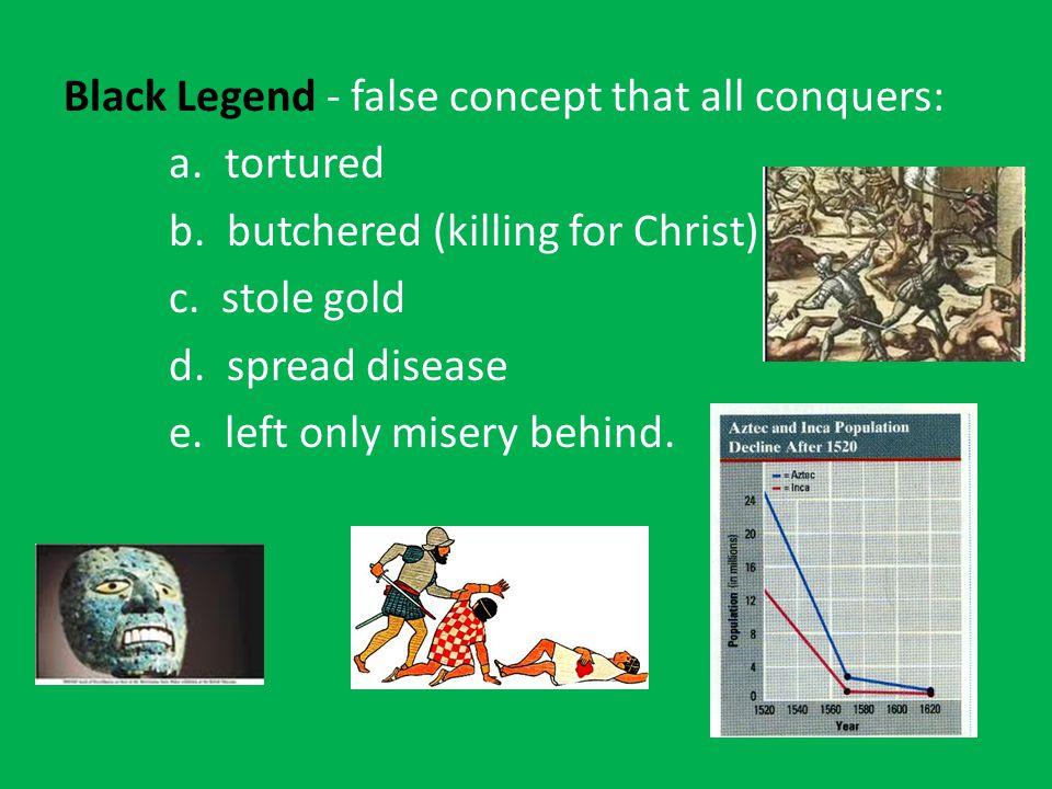 Black Legend - false concept that all conquers: a.