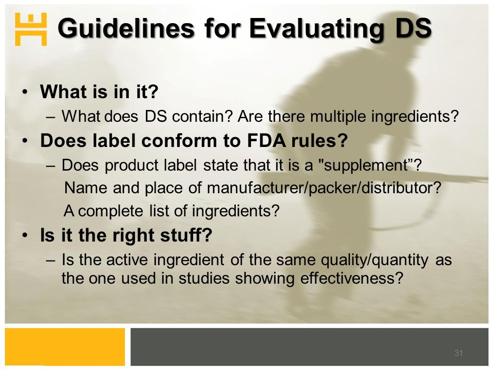 What is in it. –What does DS contain. Are there multiple ingredients.