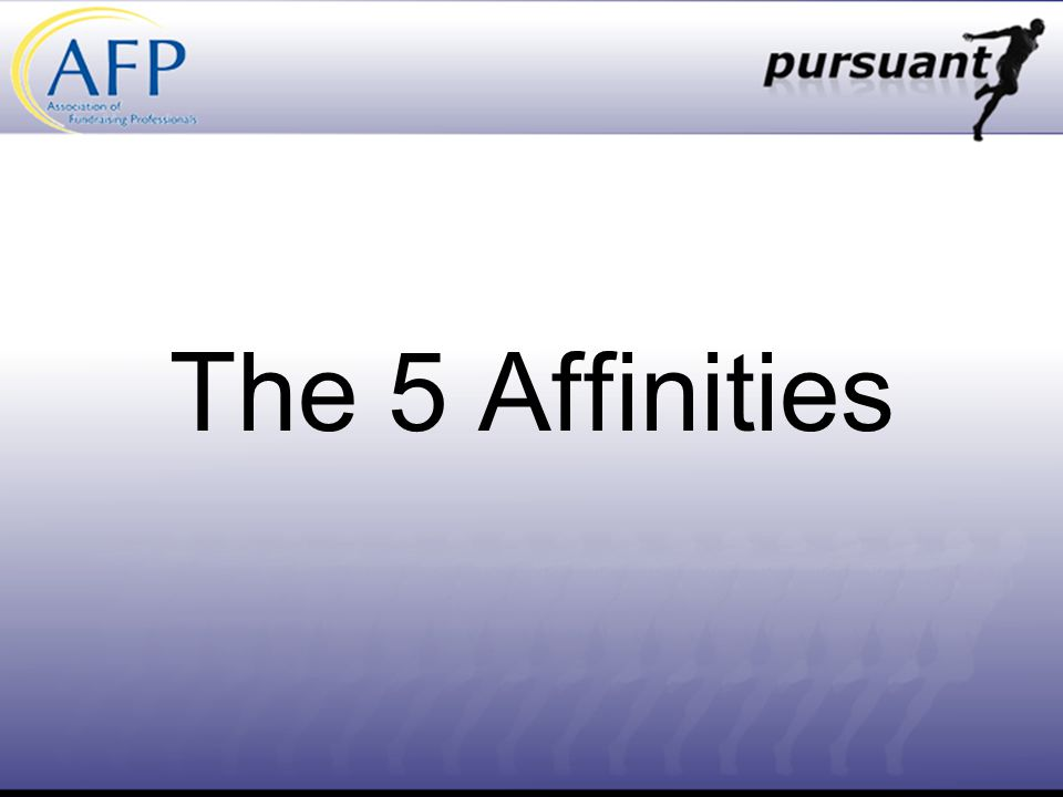 The 5 Affinities