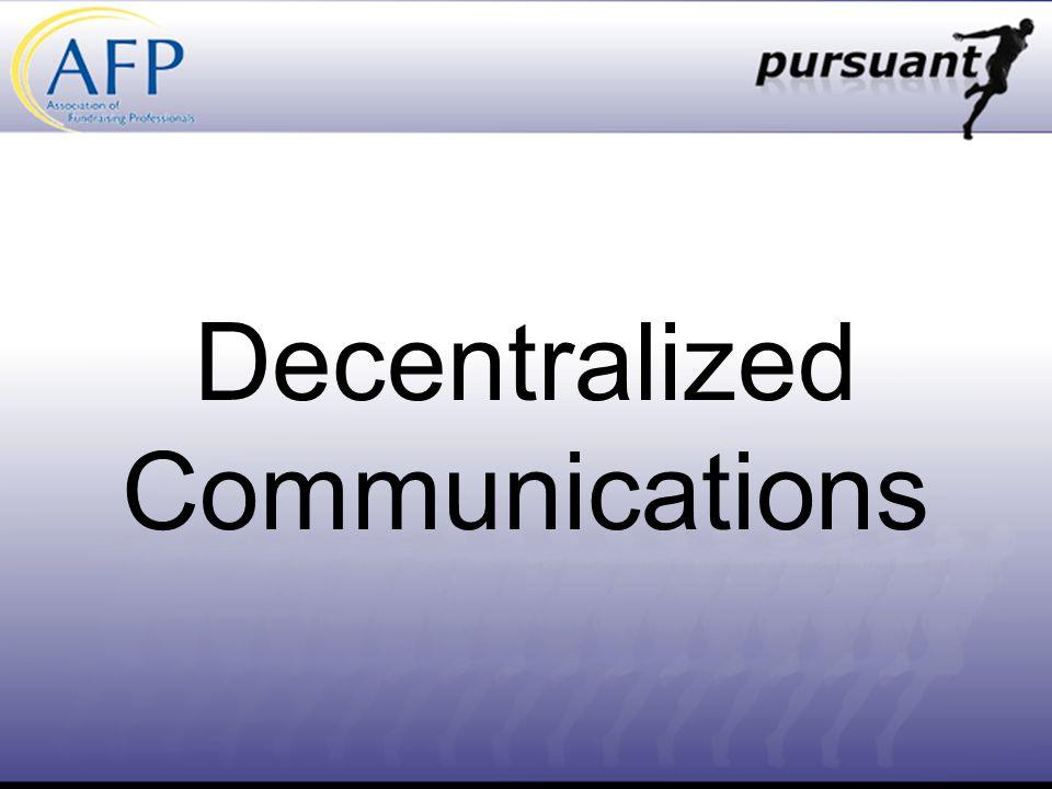 Decentralized Communications