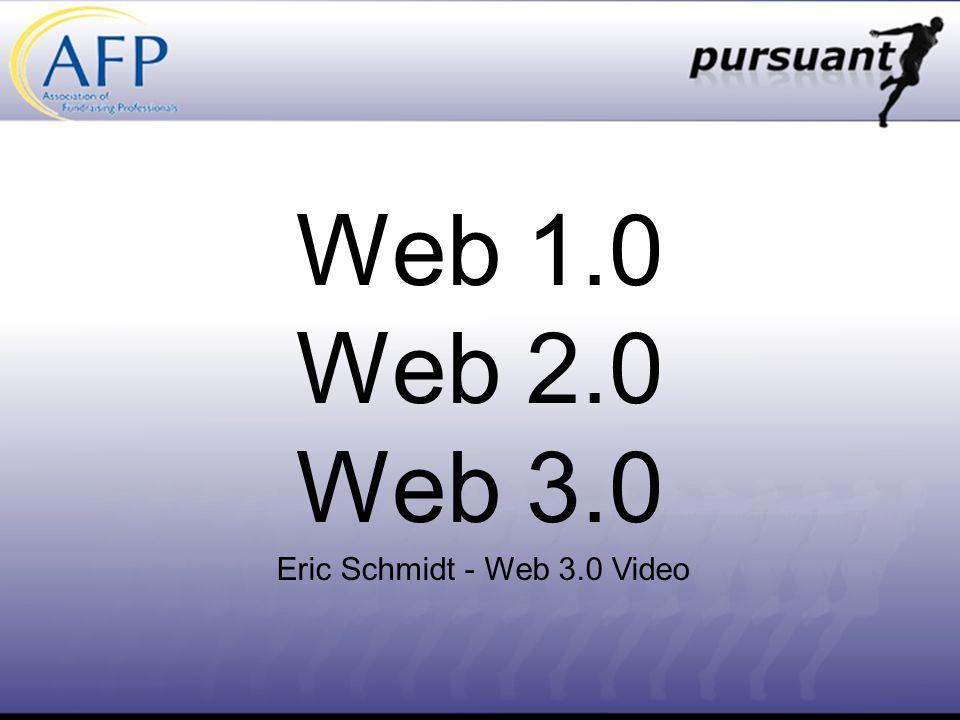 Web 1.0 Web 2.0 Web 3.0 Eric Schmidt - Web 3.0 Video