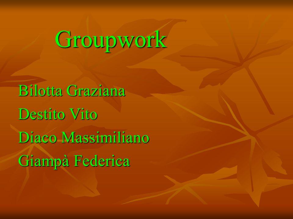 Groupwork Groupwork Bilotta Graziana Destito Vito Diaco Massimiliano Giampà Federica