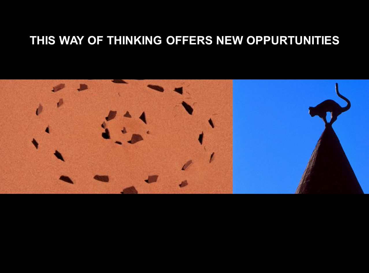 THIS WAY OF THINKING OFFERS NEW OPPURTUNITIES