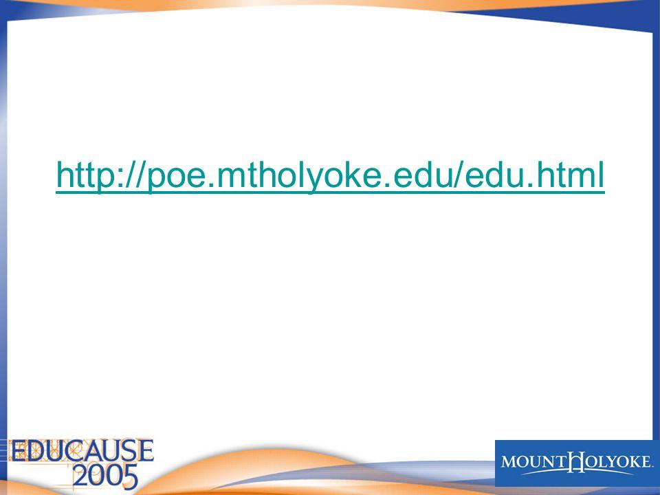 http://poe.mtholyoke.edu/edu.html