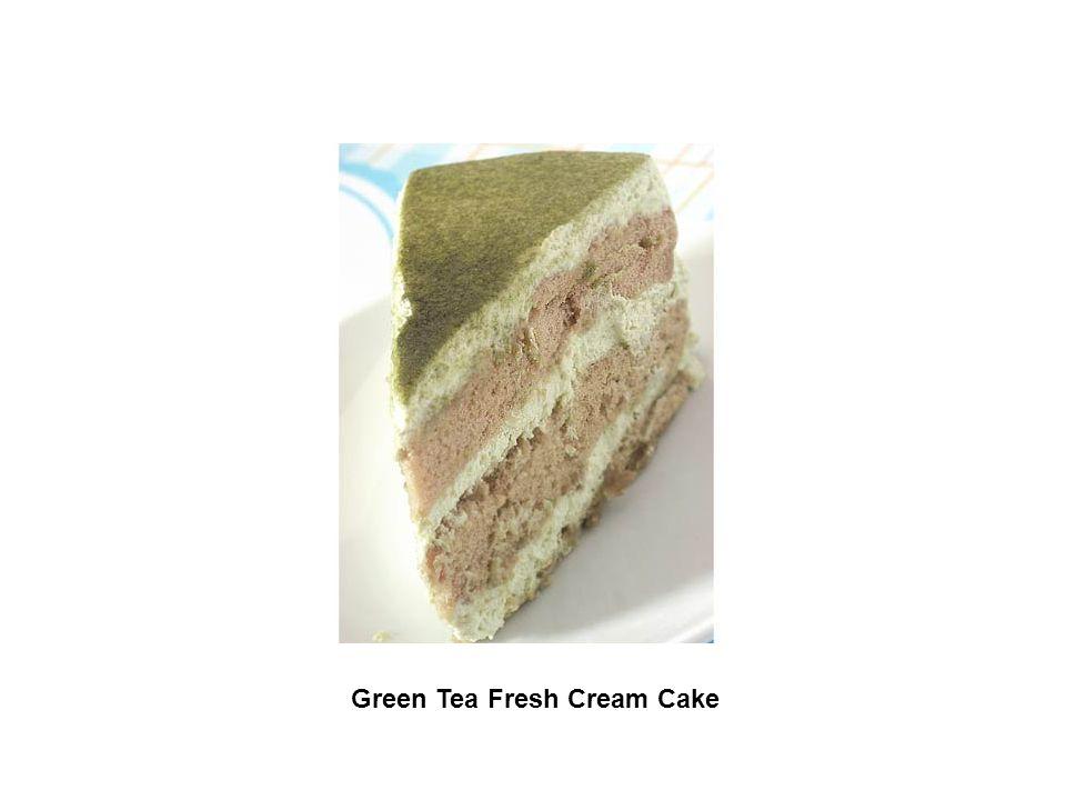 Green Tea Fresh Cream Cake
