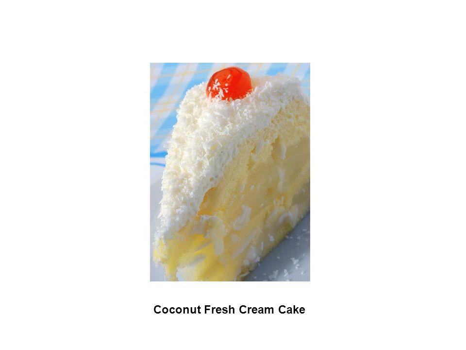Coconut Fresh Cream Cake