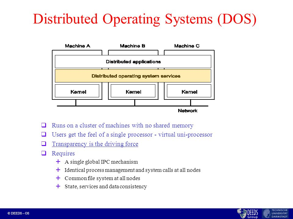 © DEEDS – OS Communication: Reliable Delivery Omission failure tolerance (degree k).