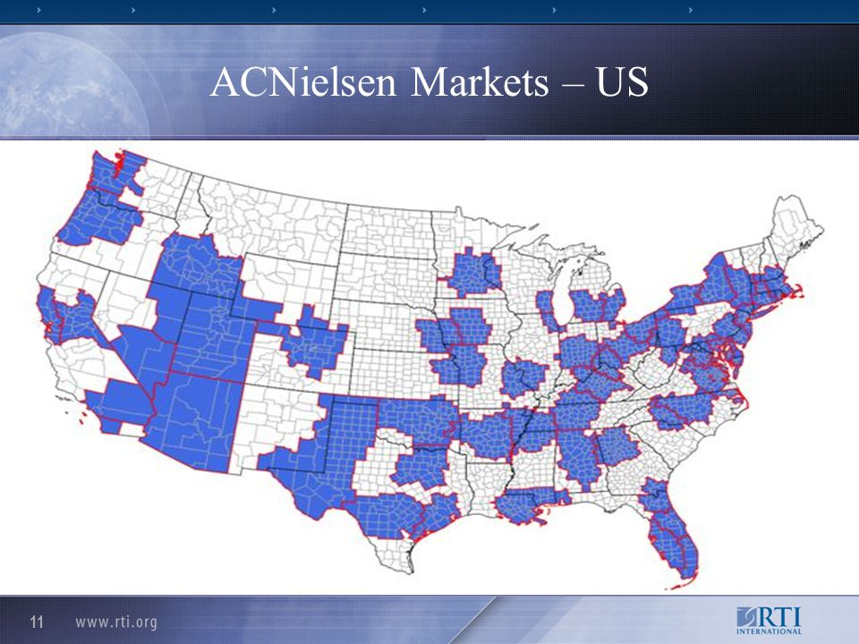 11 ACNielsen Markets – US