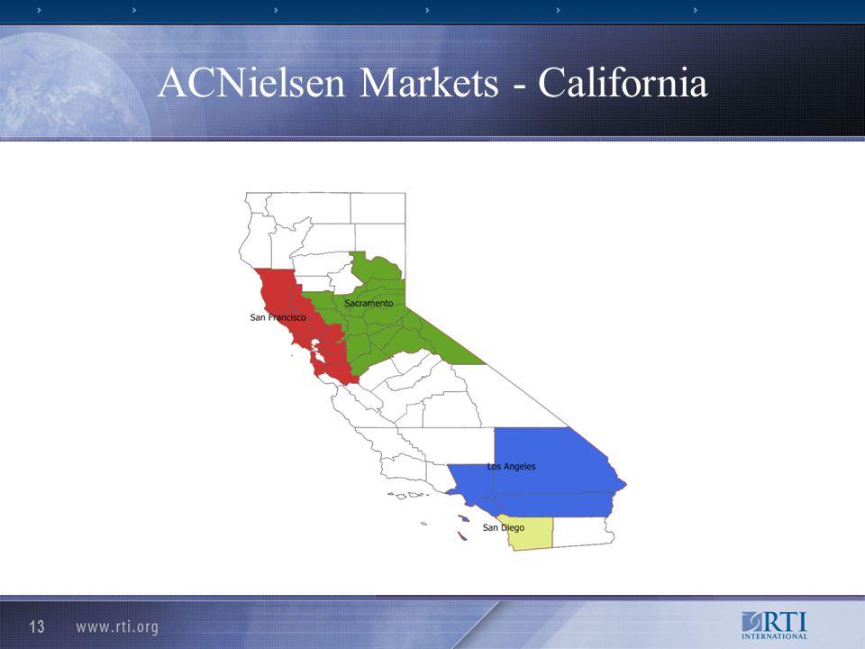 13 ACNielsen Markets - California