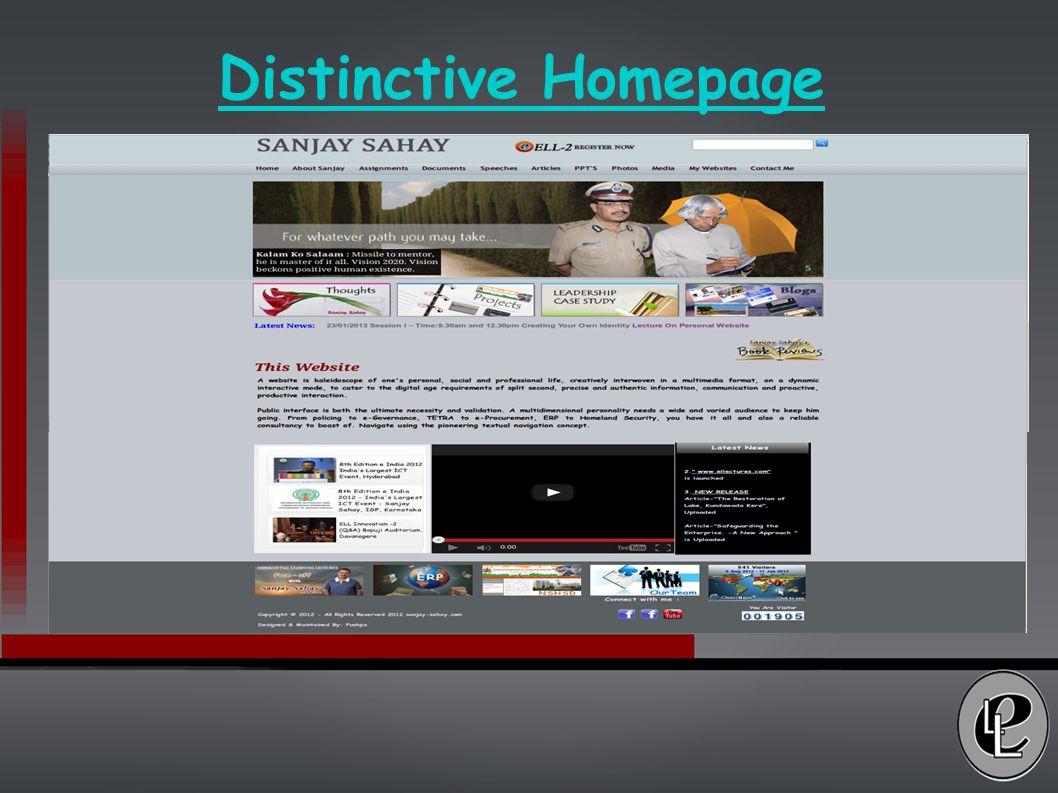Distinctive Homepage