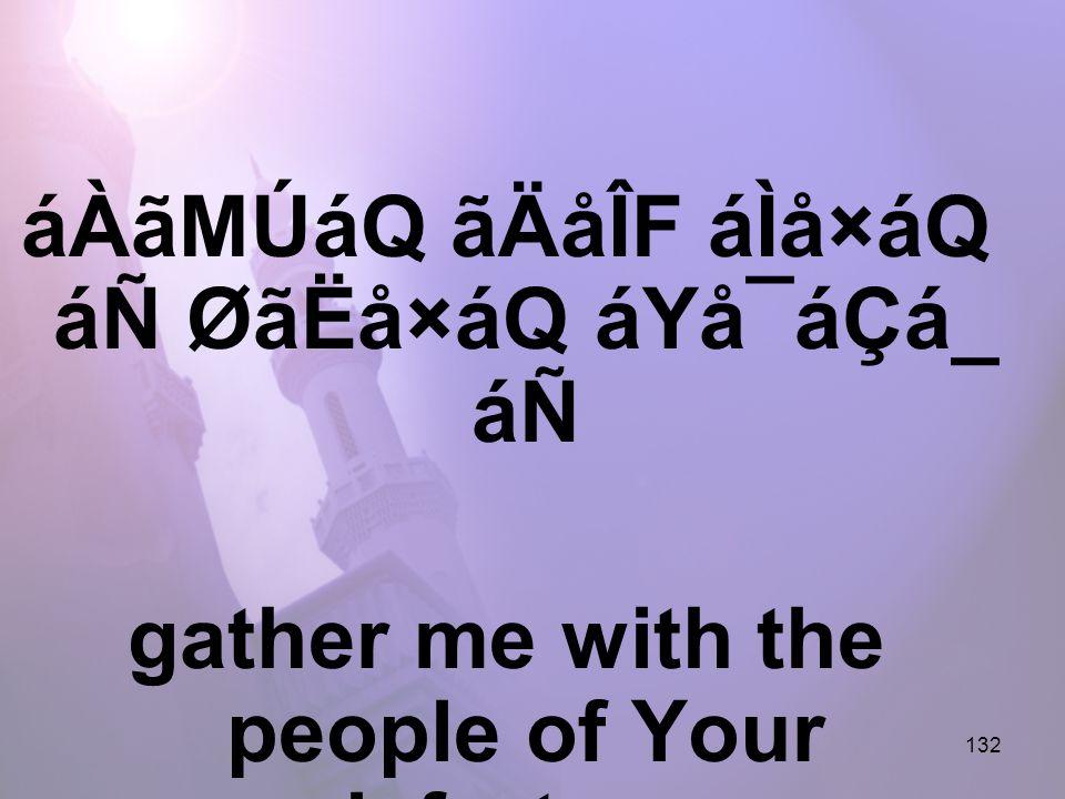 132 áÀãMÚáQ ãÄåÎF áÌå×áQ áÑ ØãËå×áQ áYå¯áÇá_ áÑ gather me with the people of Your misfortunes,