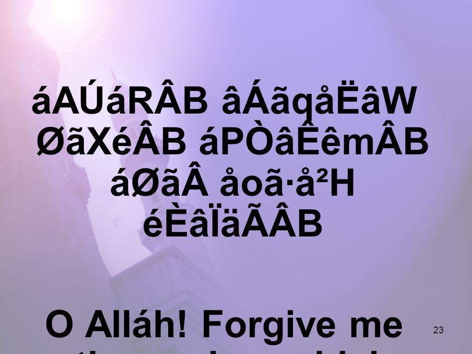 23 áAÚáRÂB âÁãqåËâW ØãXéÂB áPÒâÊêmÂB áØãåoã·å²H éÈâÏäÃÂB O Alláh.