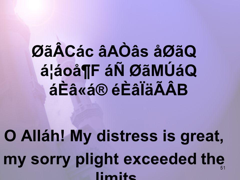 51 ØãÂCác âAÒâs åØãQ á¦áoå¶F áÑ ØãMÚáQ áÈâ«á® éÈâÏäÃÂB O Alláh.