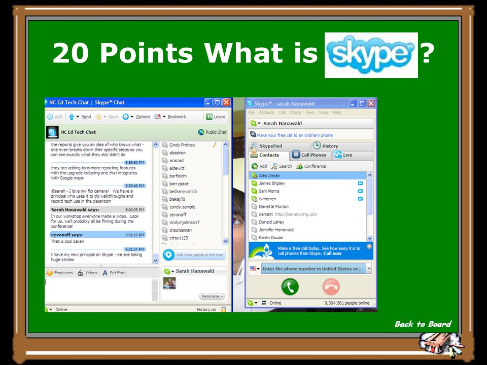 Answer for 20 Points A free program you can download and install that started as an unreliable way to talk overseas for free.