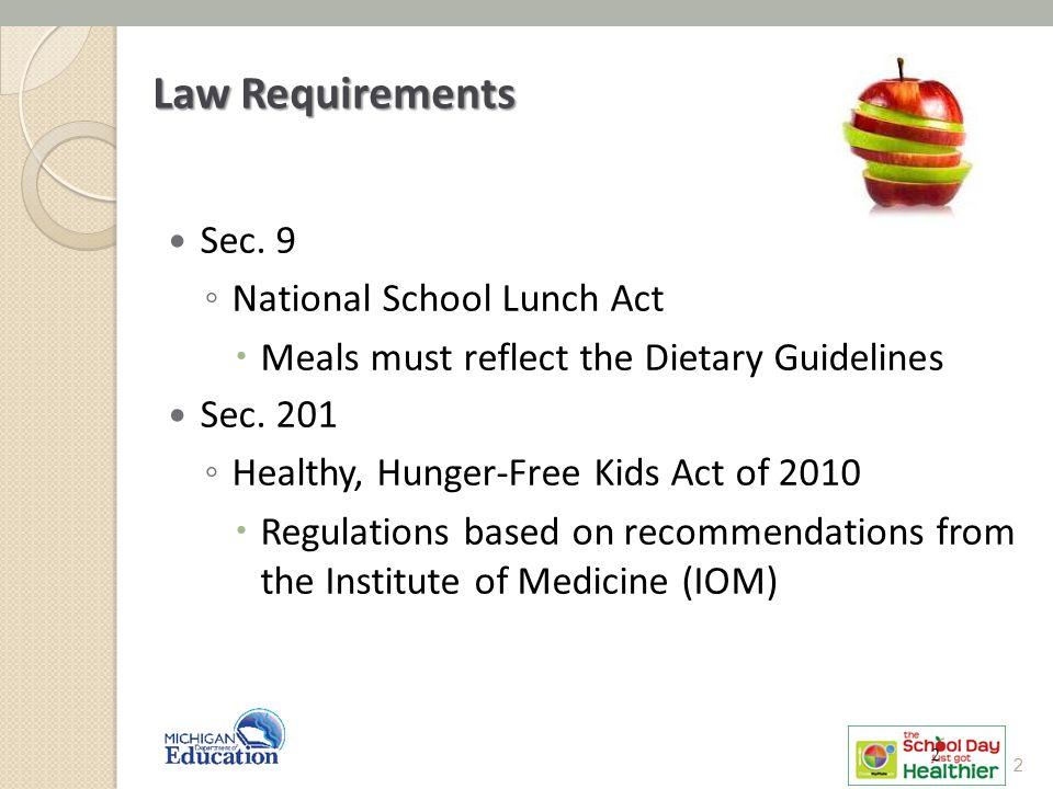 Law Requirements Sec.