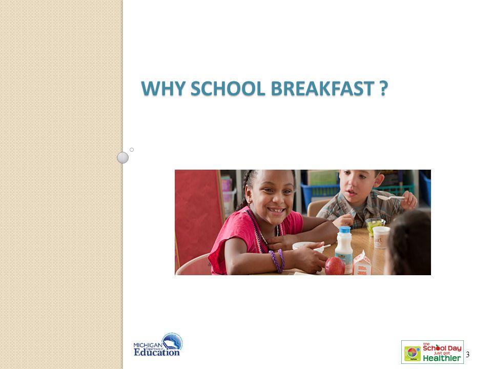 WHY SCHOOL BREAKFAST ? 3 3