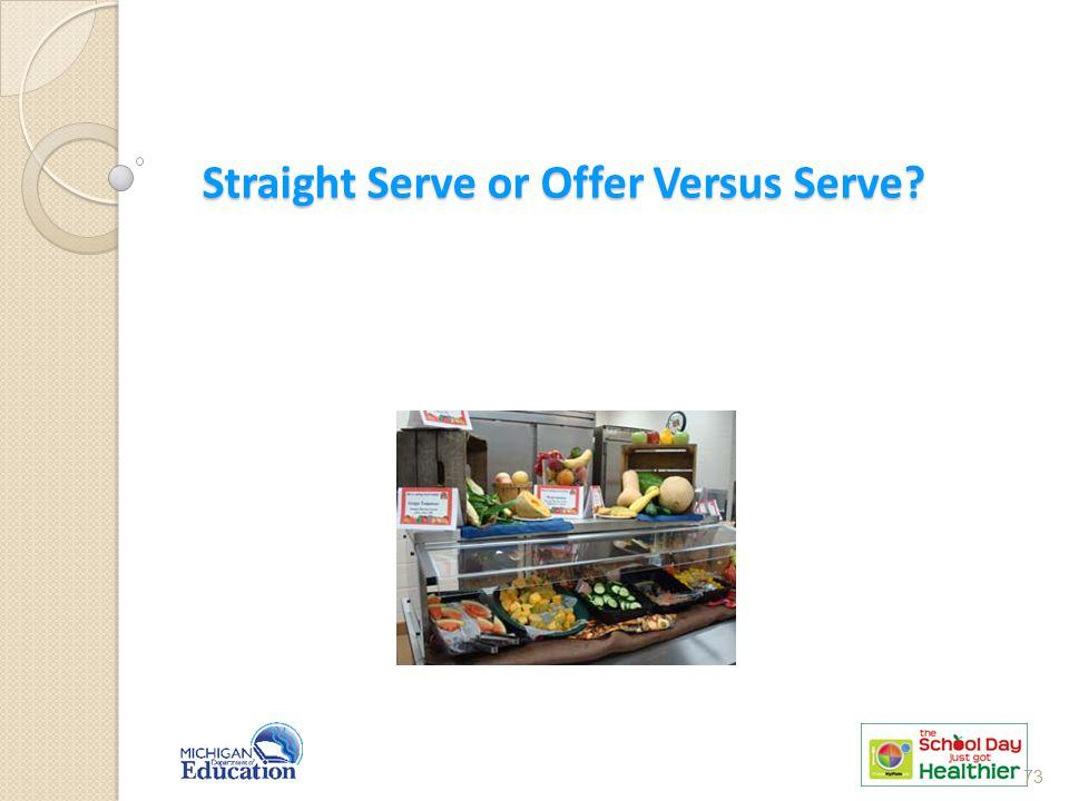 Straight Serve or Offer Versus Serve? 73