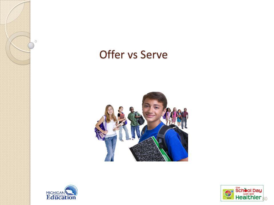 Offer vs Serve 80