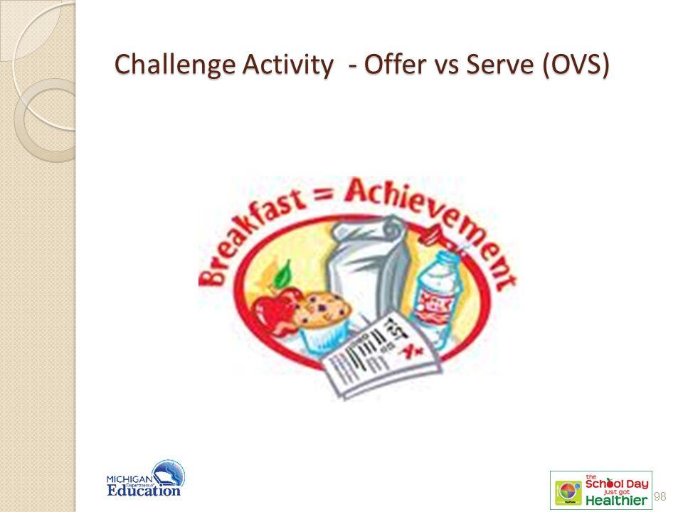 Challenge Activity - Offer vs Serve (OVS) 98