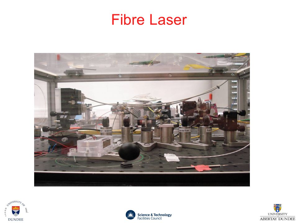 Our Fibre laser interests Fibre system will exist for timing distribution Exploit for robust / reliability distribution of EO monitors Dual function of precision arrival time monitor Requires Transport of Ti:Sapphire (SHG of Fibre laser ?) knowledge to amplified laser system