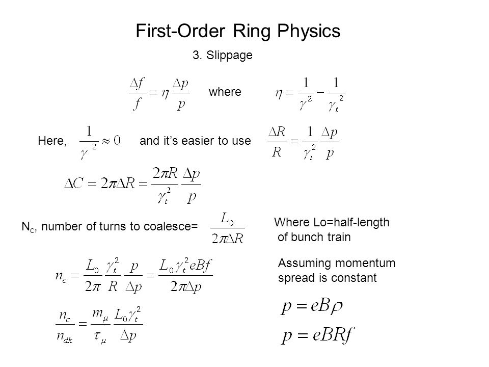 First-Order Ring Physics 3.
