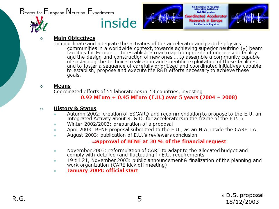 R.G.D.S. proposal 18/12/2003 6  Work Package 2: High Power proton drivers (P.