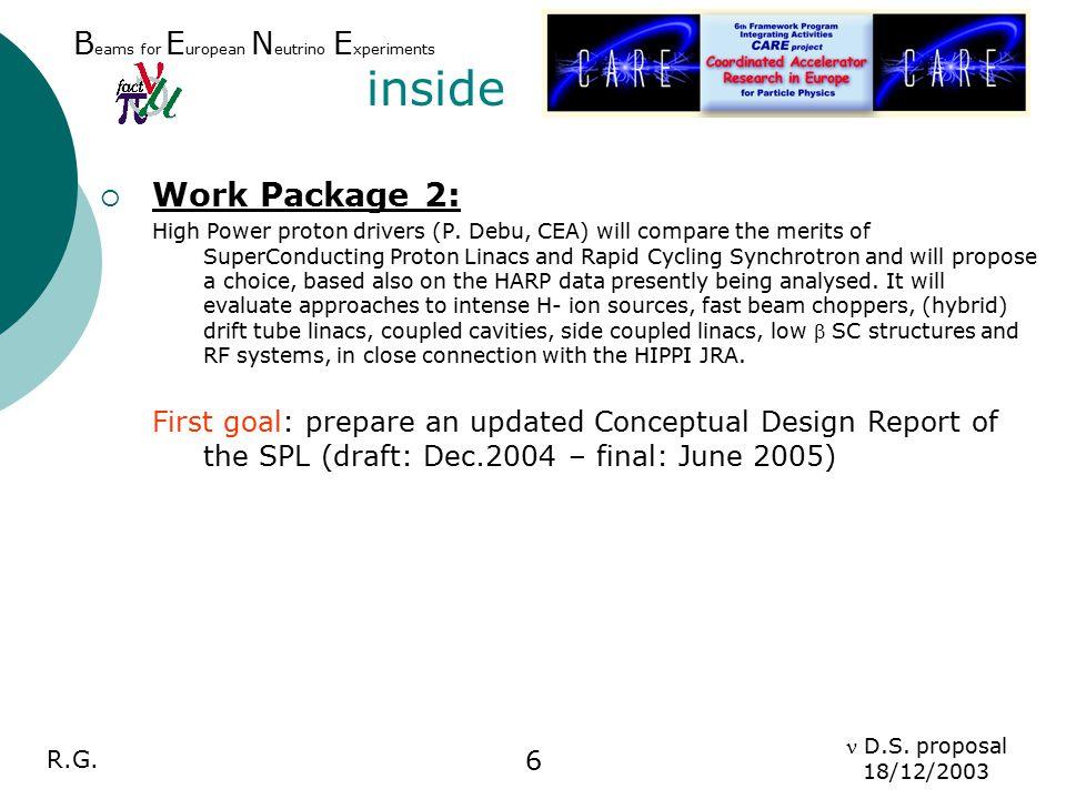 R.G.D.S. proposal 18/12/2003 7 1.