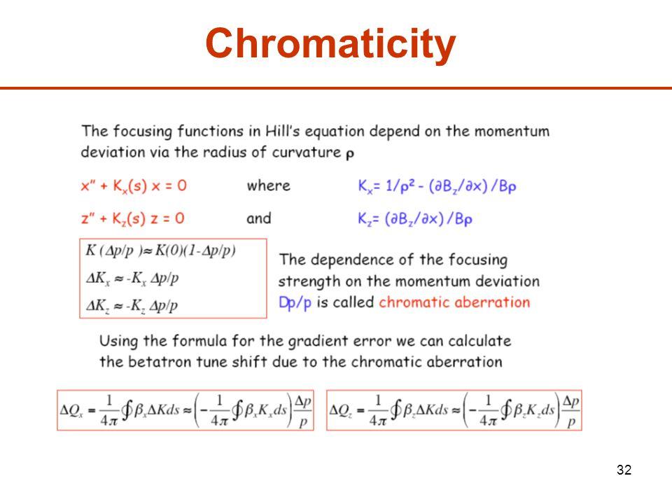 32 Chromaticity