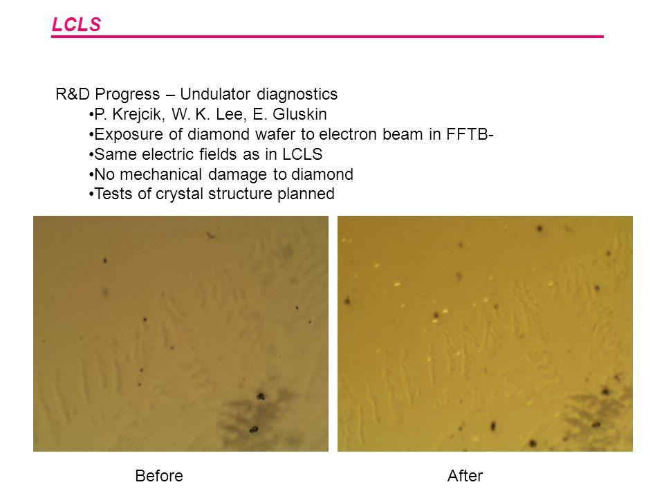LCLS R&D Progress – Undulator diagnostics P. Krejcik, W.