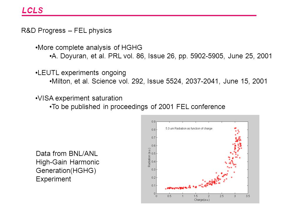 LCLS R&D Progress – FEL physics More complete analysis of HGHG A.