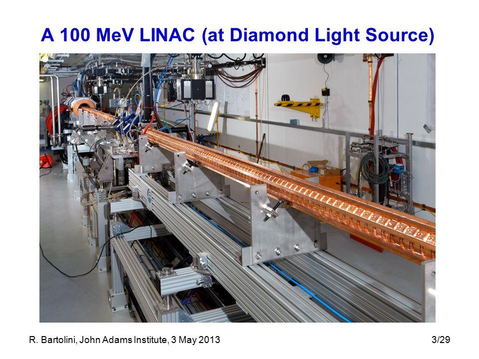 3/29 A 100 MeV LINAC (at Diamond Light Source) R. Bartolini, John Adams Institute, 3 May 2013