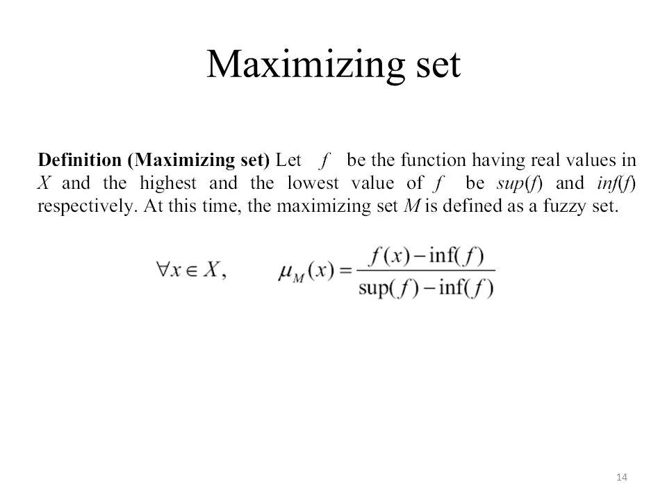 Maximizing set 14