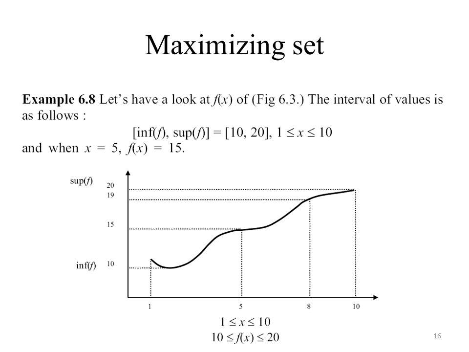 Maximizing set 16